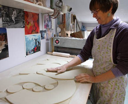 Nancy Button of Fireside Pottery