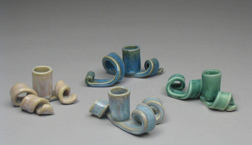 Handmade Porcelain Candlesticks