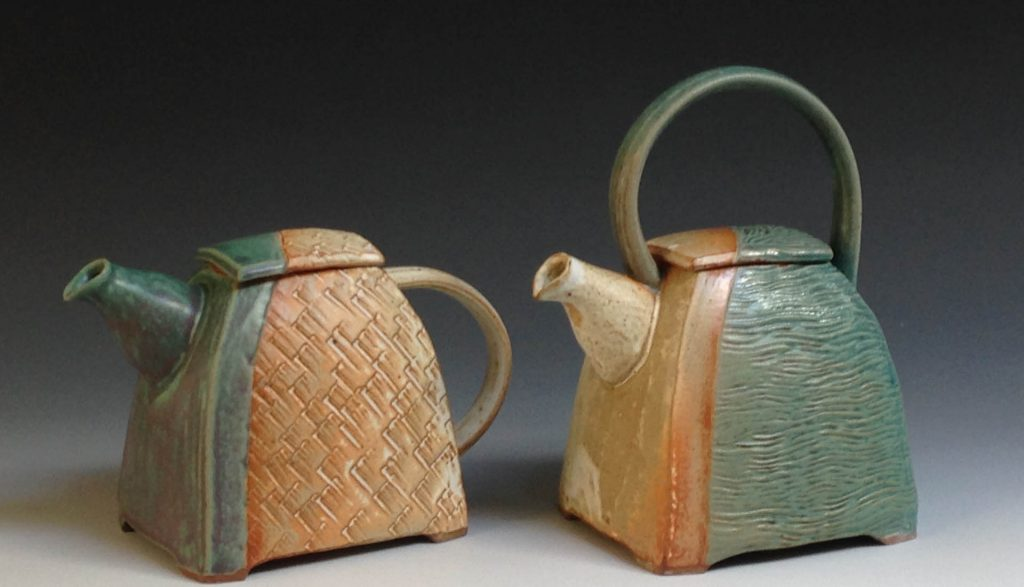 Handmade stoneware tea pots