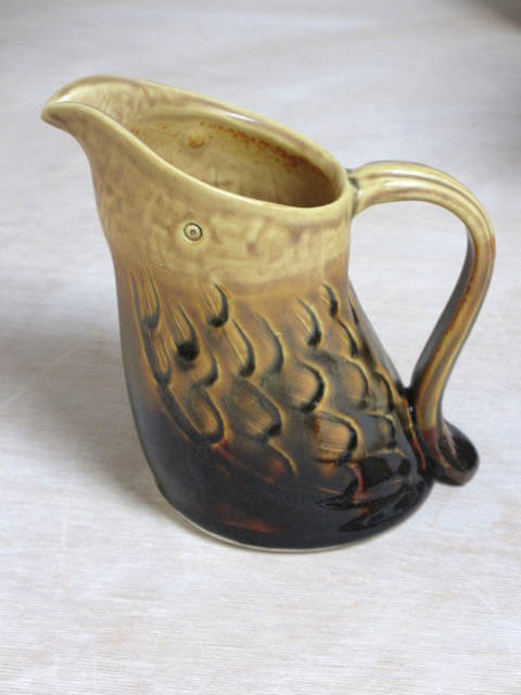 A handmade porcelain pitcher