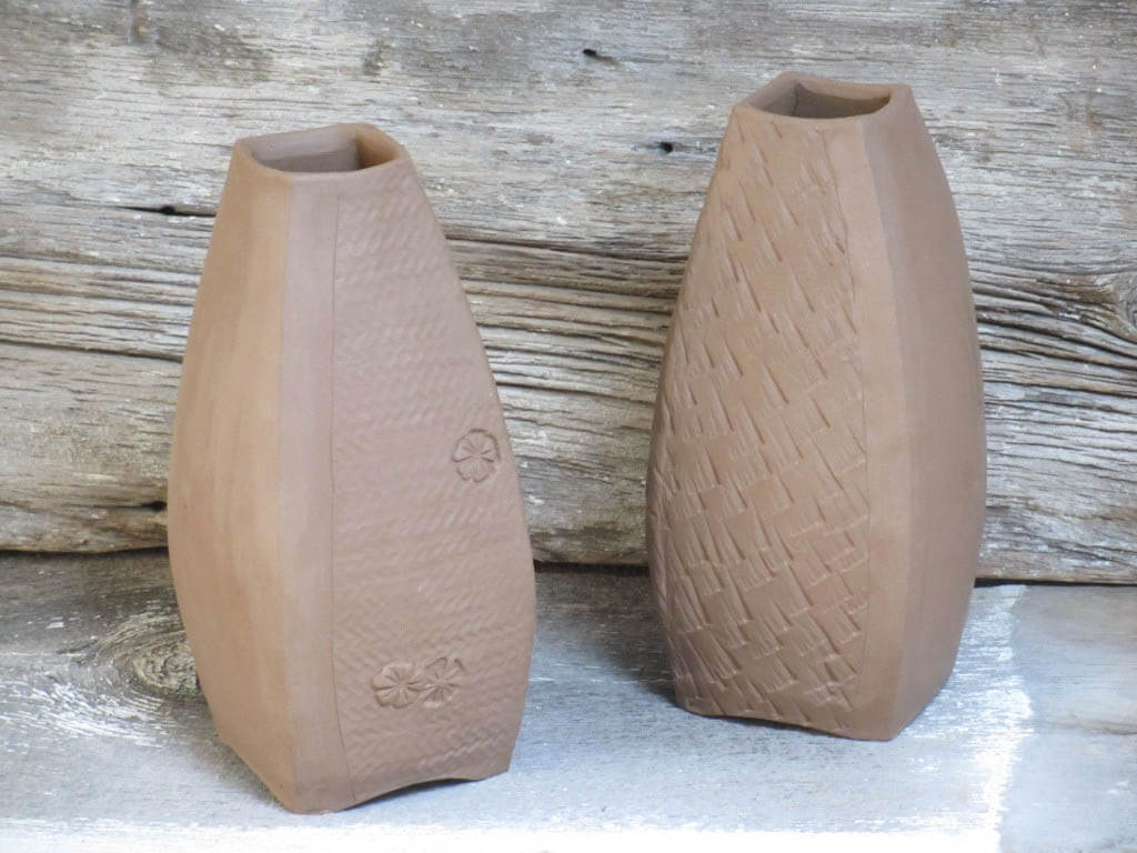 Tear drop shape vases in progress