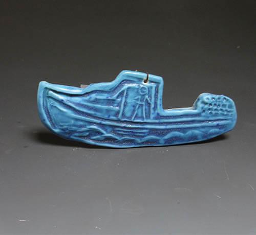 Dark Blue Boat Ornament