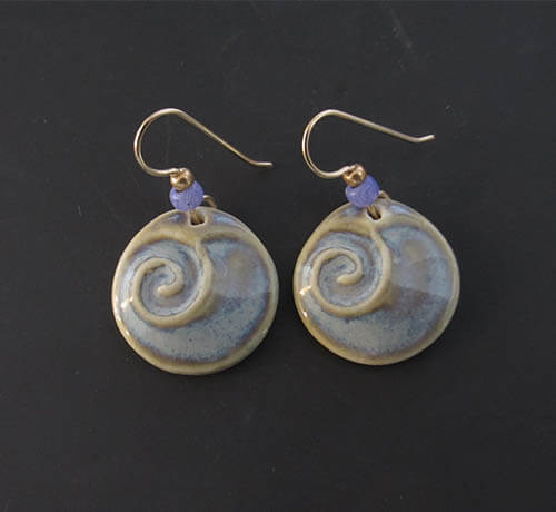 Blue wave earrings