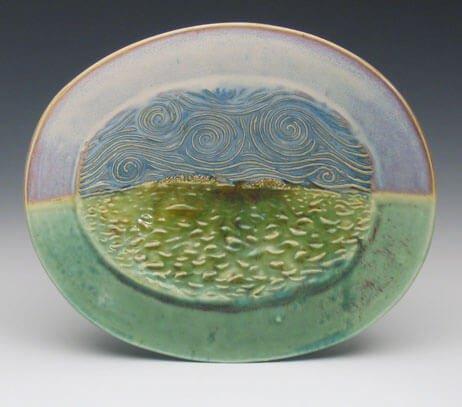 Porcelain handmade island platter
