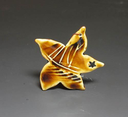 Tan star ornament