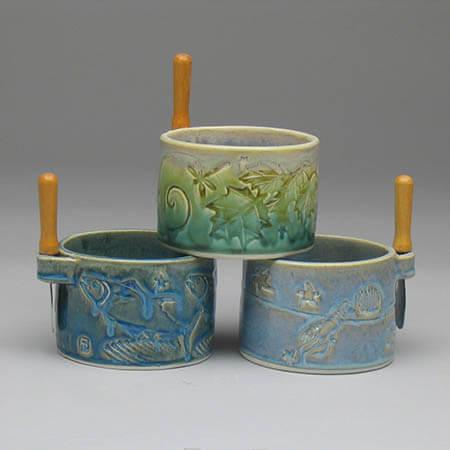 Porcelain pate bowls